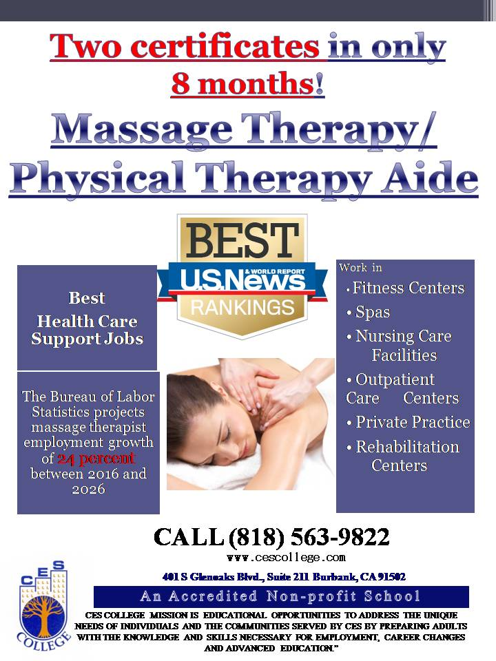 Massage Therapy/Physical Therapy Aide – CES College